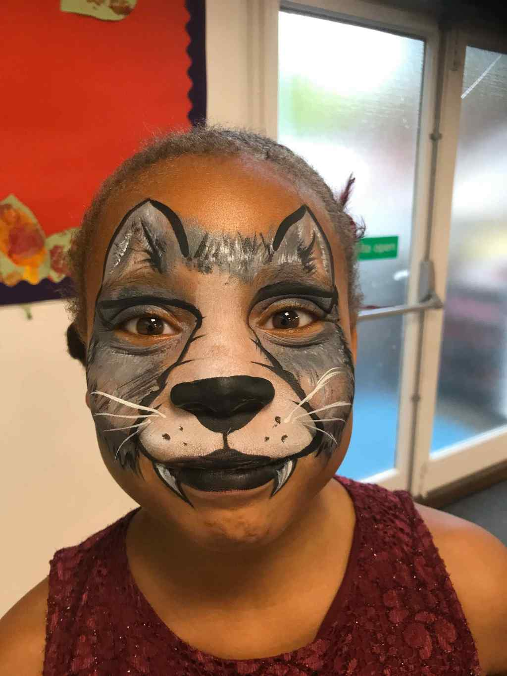 Suzi Q Wolf Face Paint