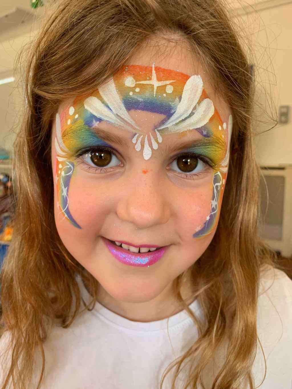 Rainbow Teardrop Face Paint Photo