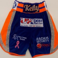 Jimmy Kelly Blue Velvet Boxing Trunks