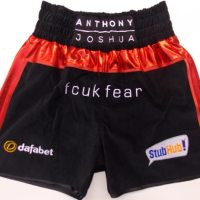 Anthony Joshua Black Boxing Trunks
