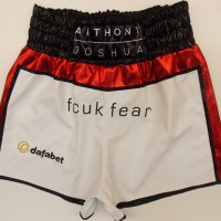 Anthony Joshua - White Leatherette with Red & Black Wetlook