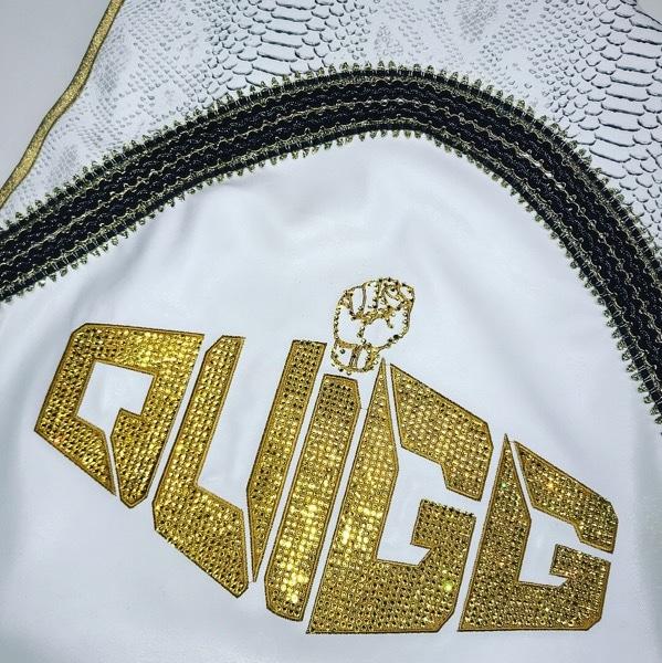 Back Swarovski Quigg on White Ring Jacket
