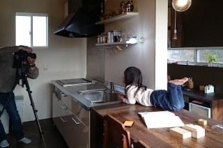 いいやまのいえ 雑誌撮影 キッチン ダイニング