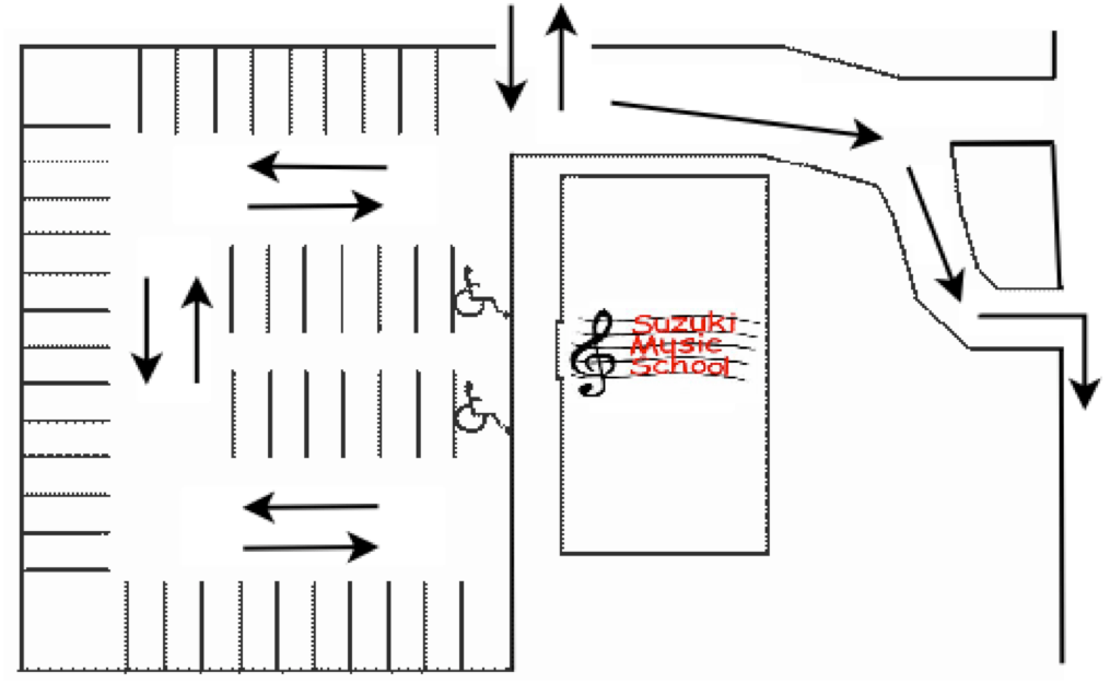 Labeled Diagram Parking Lot