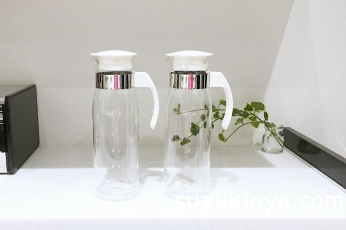 耐熱ガラスのハリオのスリム冷蔵庫ポットはシンプル