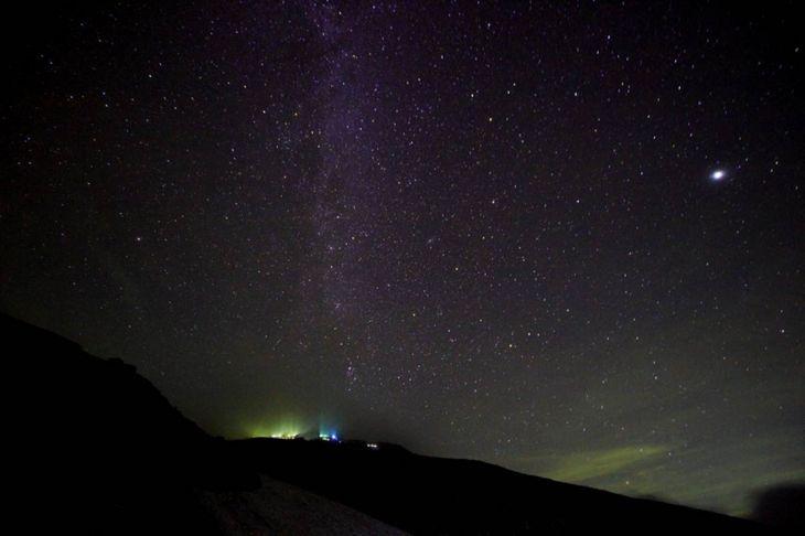 白馬岳から見た星空