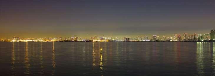 東京湾からの夜景