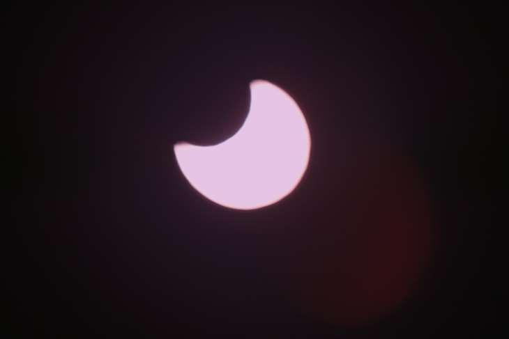 札幌から見た部分日食
