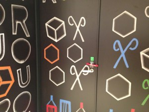 R.O.U店内のドアのイラスト