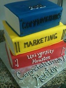 University of Houston Graduation Cake