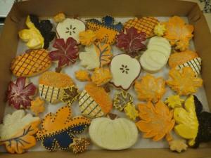fall theme cookies