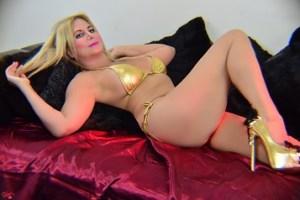 South Florida Escort | Miami-Fort Lauderdale | Seductive GFE - Blonde MILF in Gold Bikini