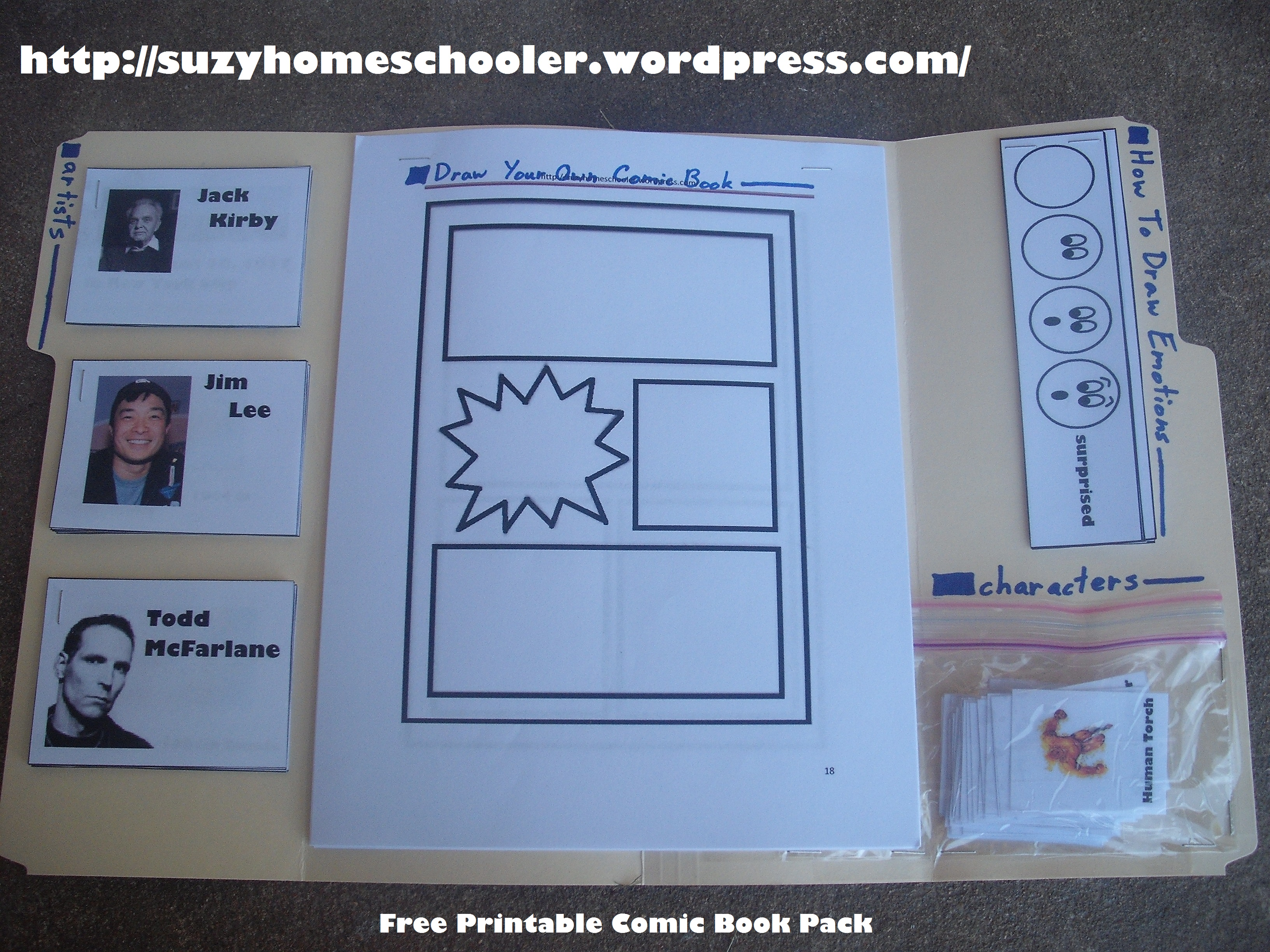 Free Printable Comic Book Pack Suzy Homeschooler