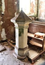 The font at St Michael's Church, Market Stainton, Lincolnshire Wolds