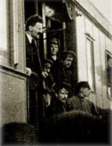 Leon Trotsky on his Train.