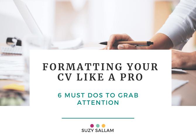 Formatting your CV like a pro - Book - Suzy Sallam