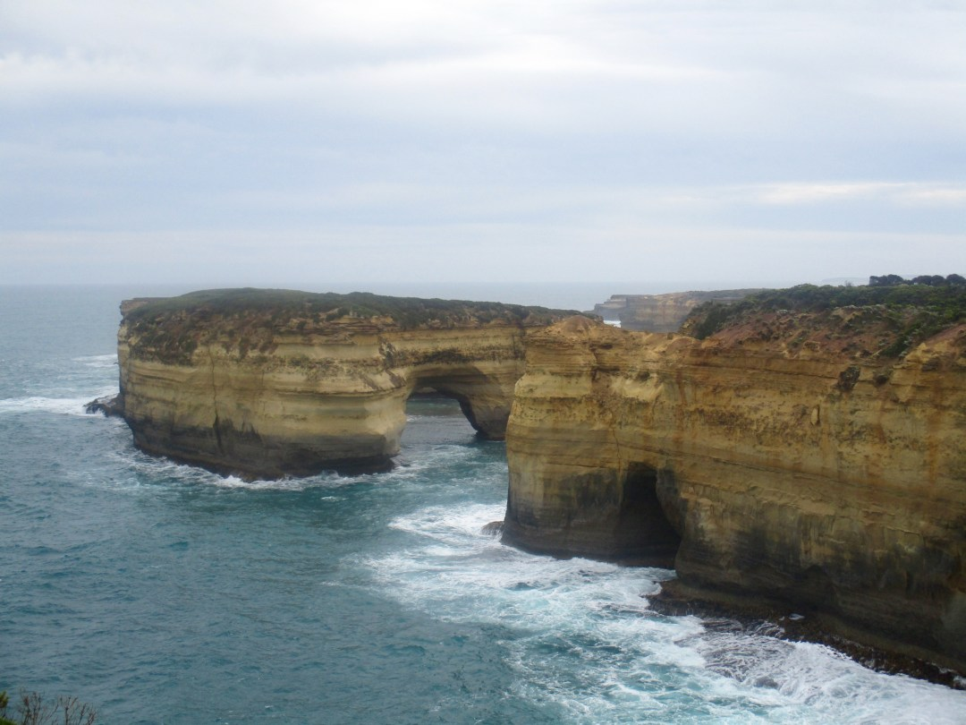 Sandstone arch separate from the mainland as part of Port Campbell National Park
