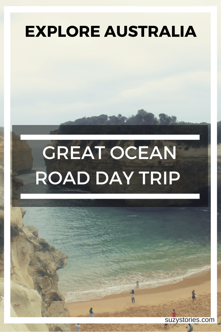 Text overlay of Loch Ard Gorge on the Great Ocean Road