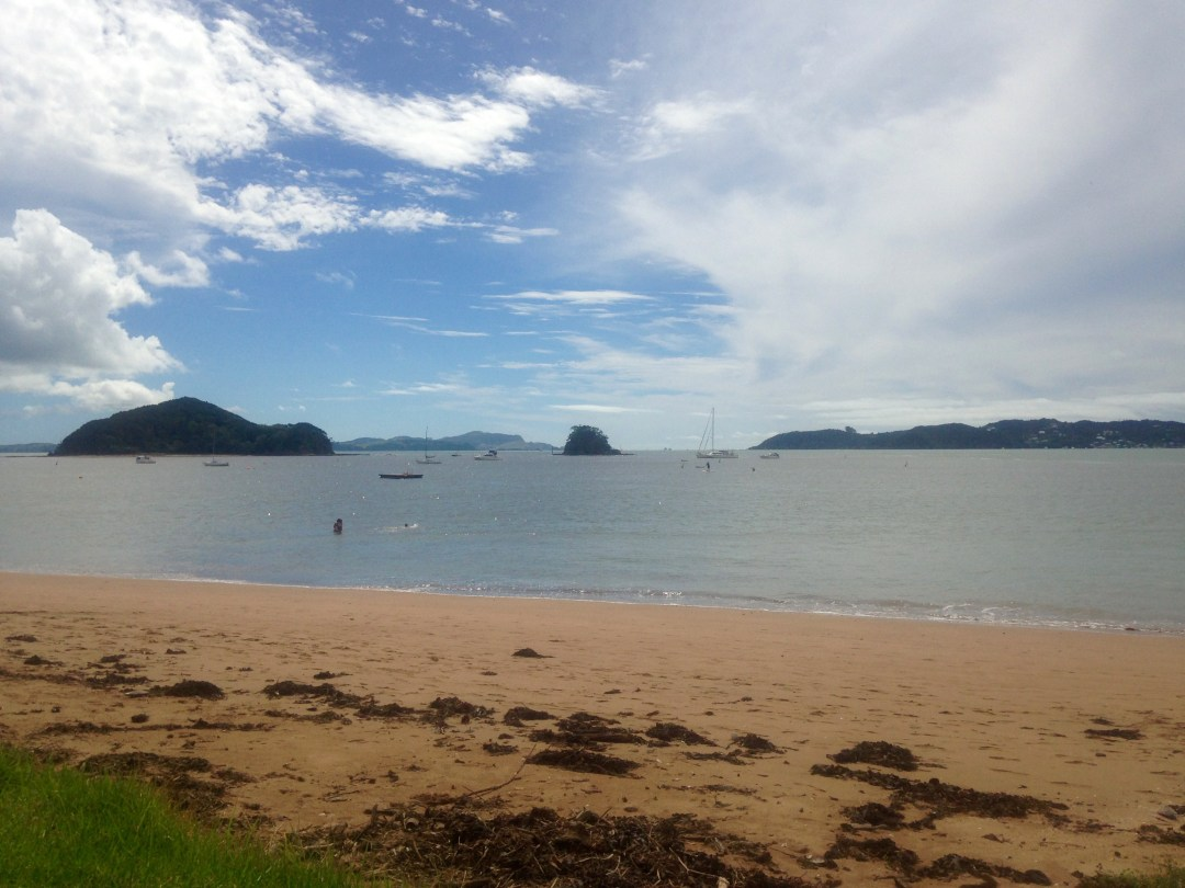 Beach in Bay of Islands New Zealand