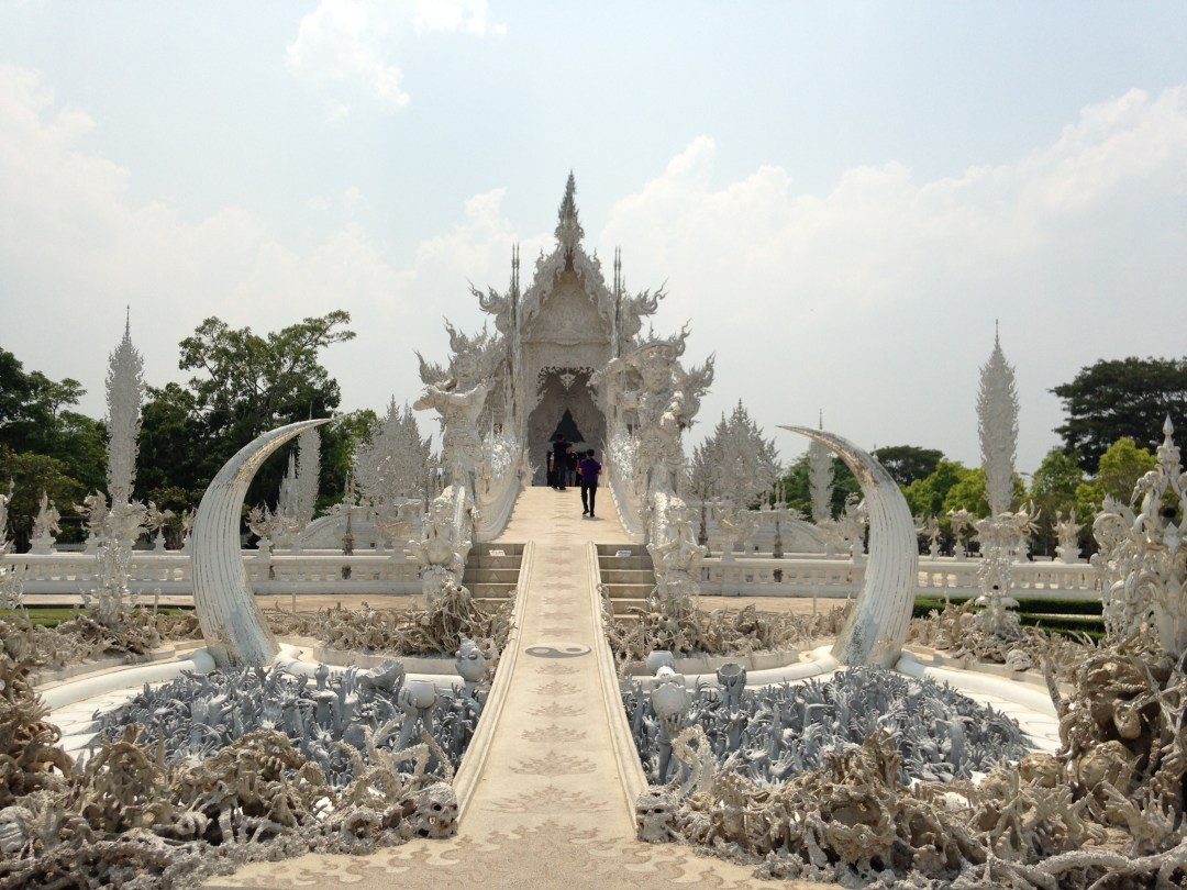 Stunning and intricate design of the White Temple in Chiang Rai