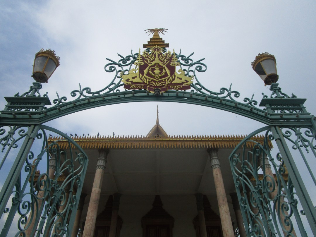 The gated entrance to a temple inside the Royal Palace complex