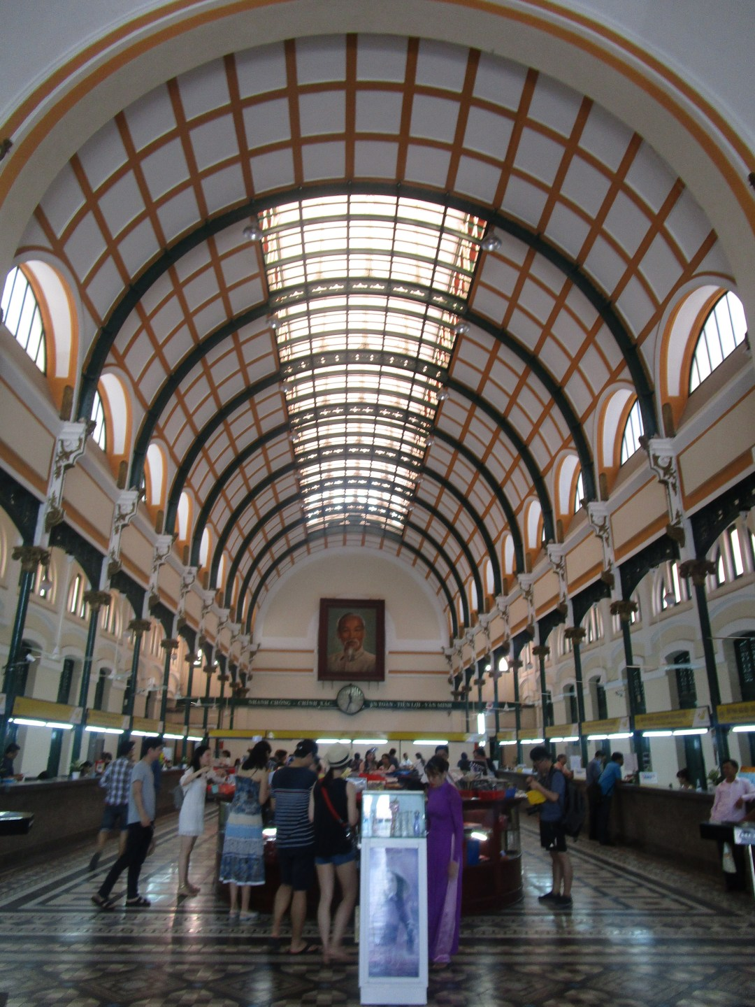 Interiors of the wonderful post office of Ho Chi Minh City