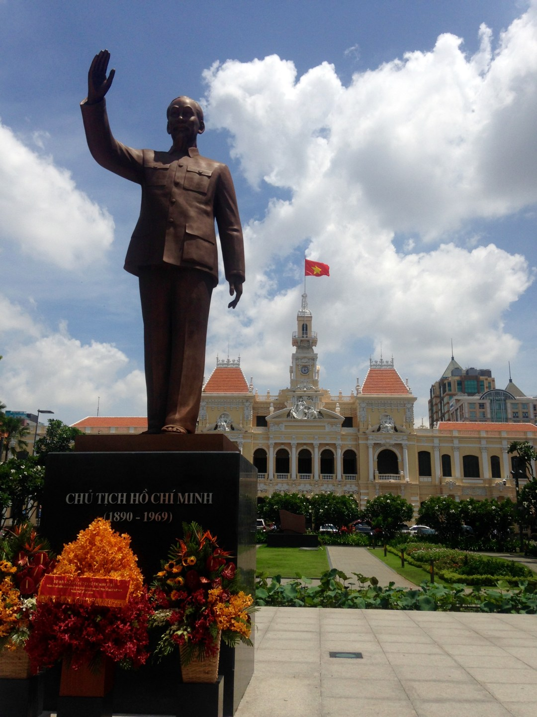 statue of ho chi minh outside parliament building
