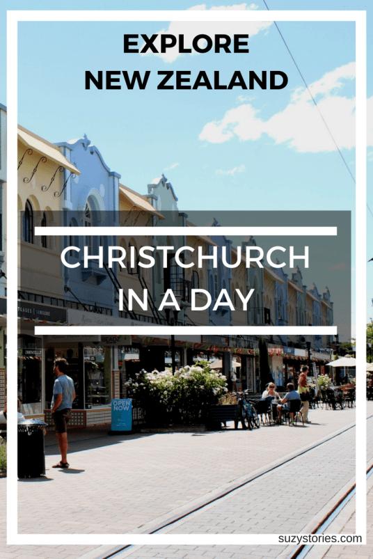 Text overlay New Regents Street in Christchurch New Zealand