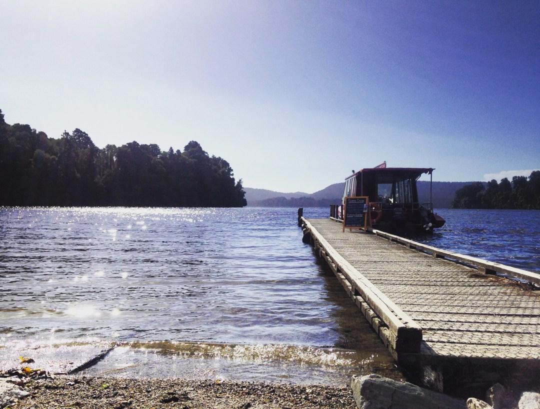 lake jetty in franz josef