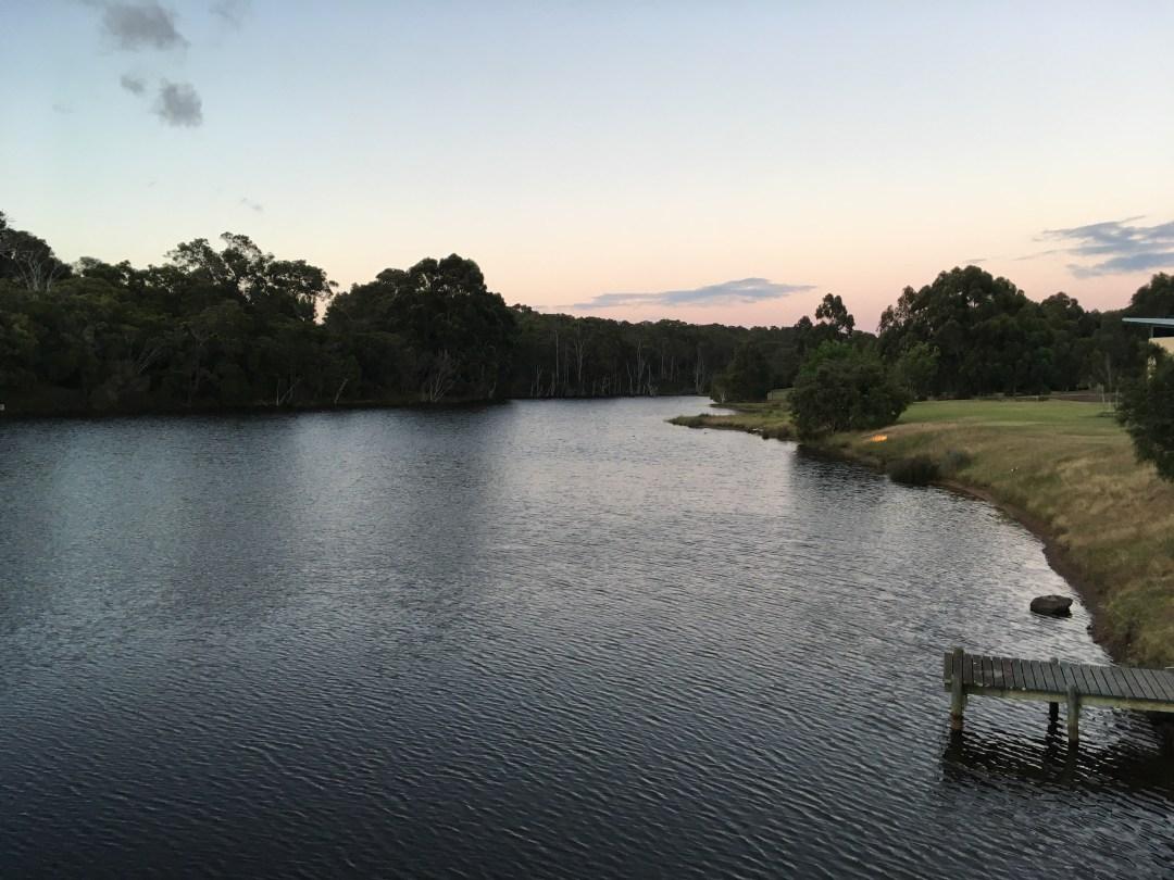Sunset over a lake in Australia