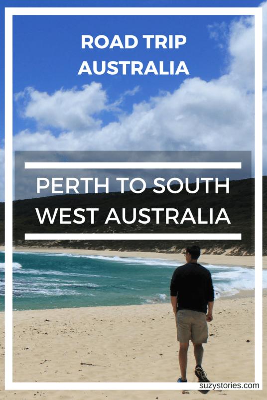 Pin text overlay man walking along a beach in Australia