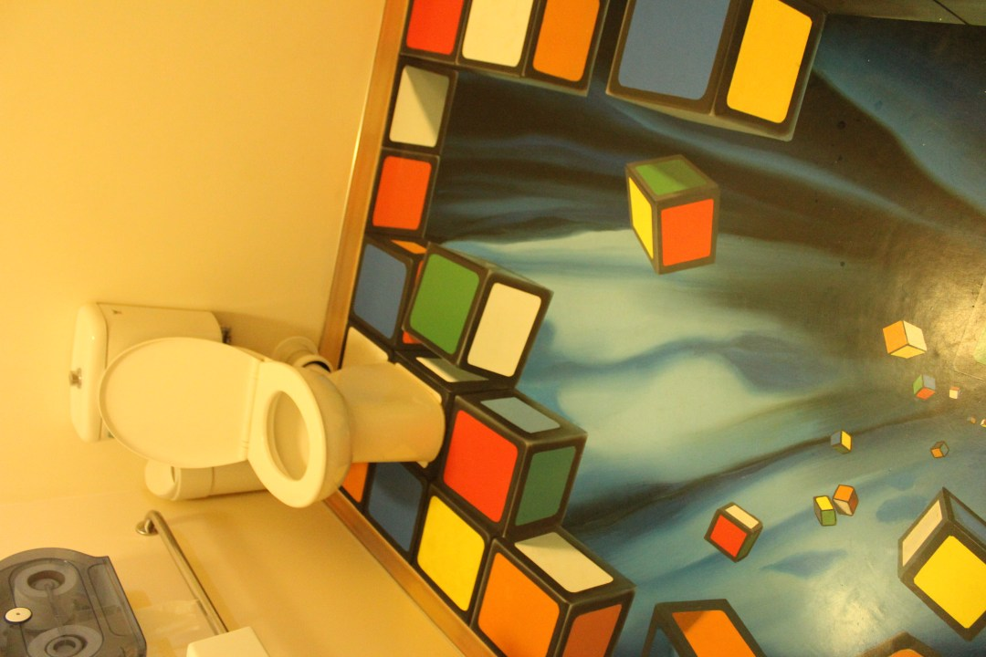 Unique Puzzling World toilet - Things to do in Wanaka New Zealand