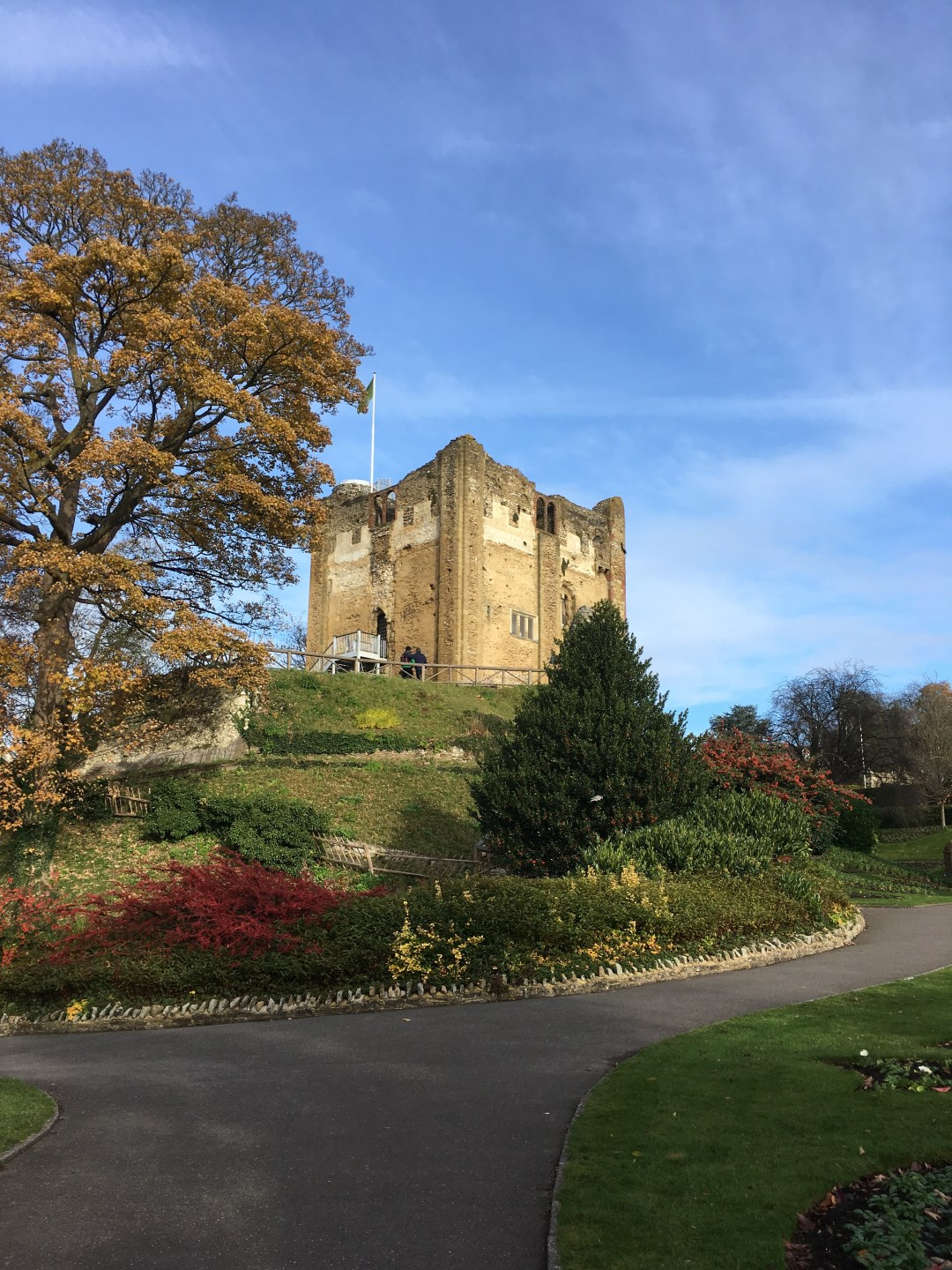 Guildford Castle in Autumn