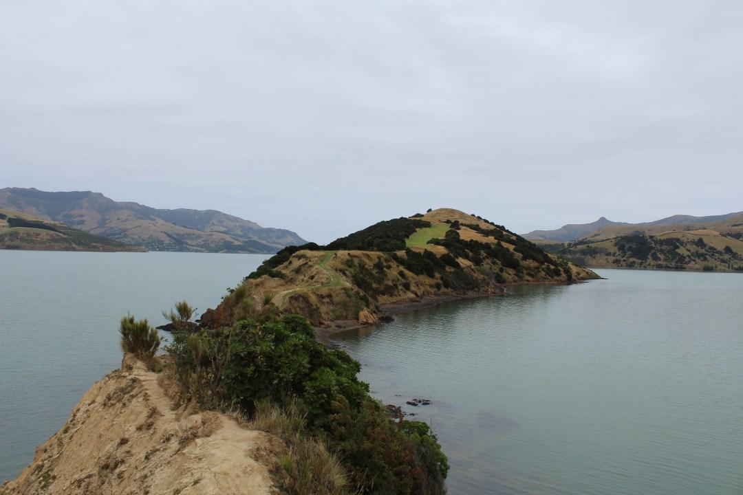 Peninsula views overlooking bay in Banks Peninsula, Christchurch New Zealand