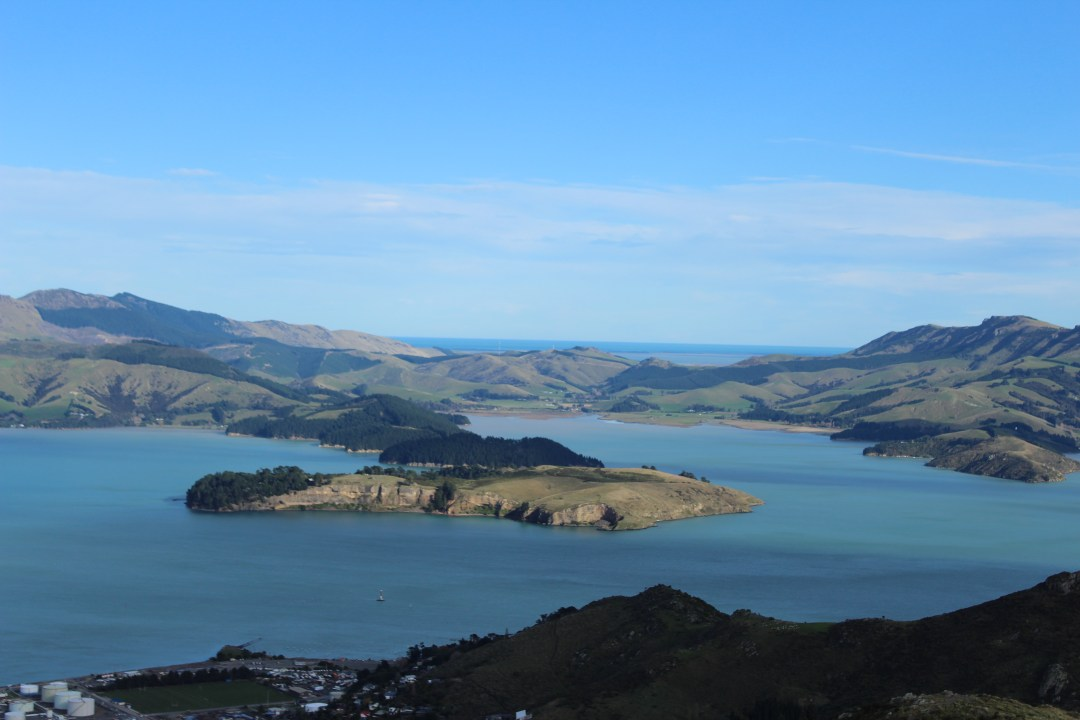 Quail Island views from Lyttelton, Christchurch New Zealand