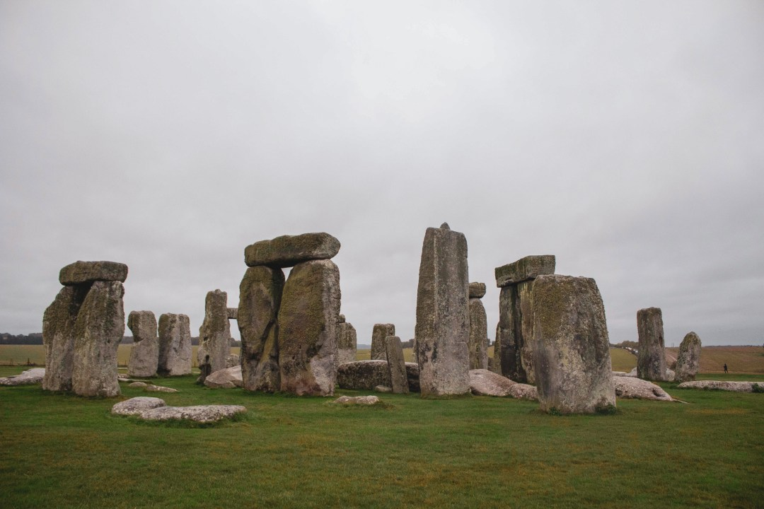 Stones of all shapes and sizes at the site of Stonehenge