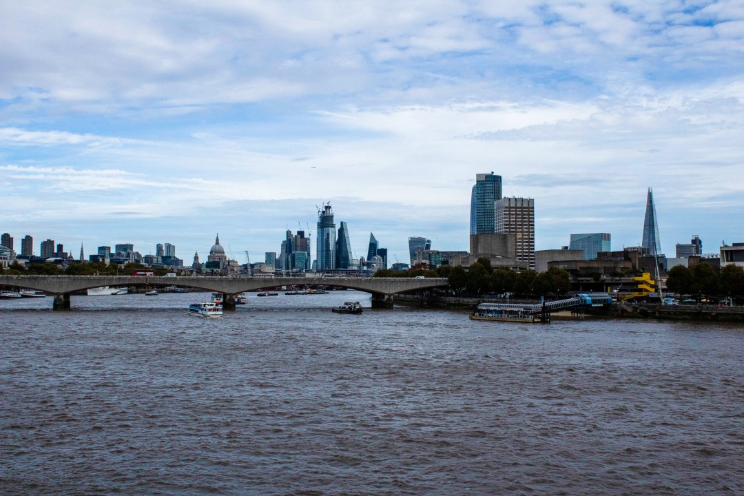 View across the city of London from Embankment Bridge