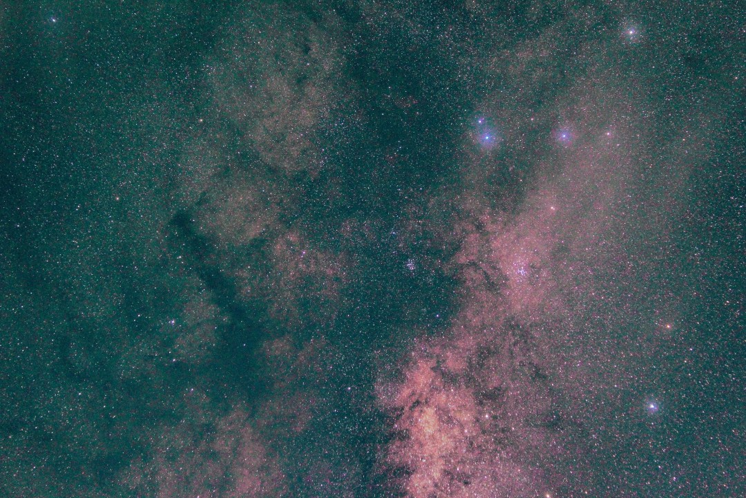 Astrophotography image of galaxy and stars in New Zealand