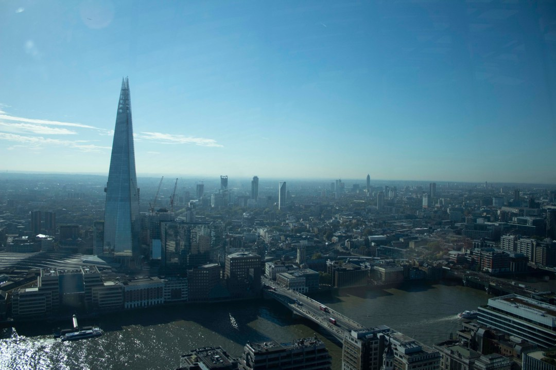 View overlooking the Shard London