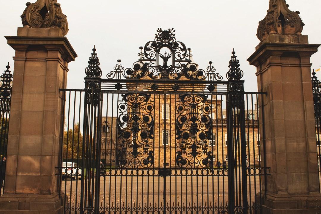 Holyrood Palace black metal gate