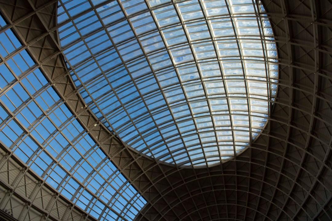 Glass dome roof of Leeds corn exchange