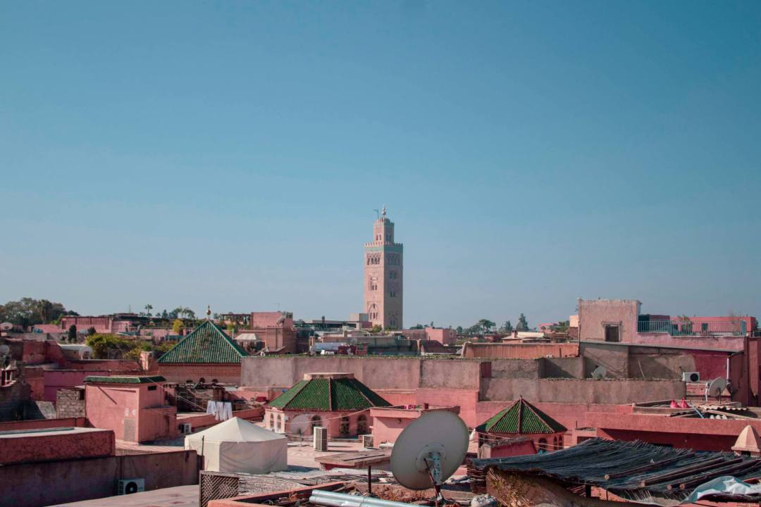 Rooftop views over Marrakech