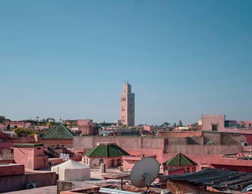 Rooftop views over Marrakech