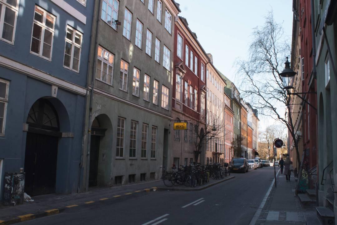 Colourful houses in Latin Quarter Copenhagen