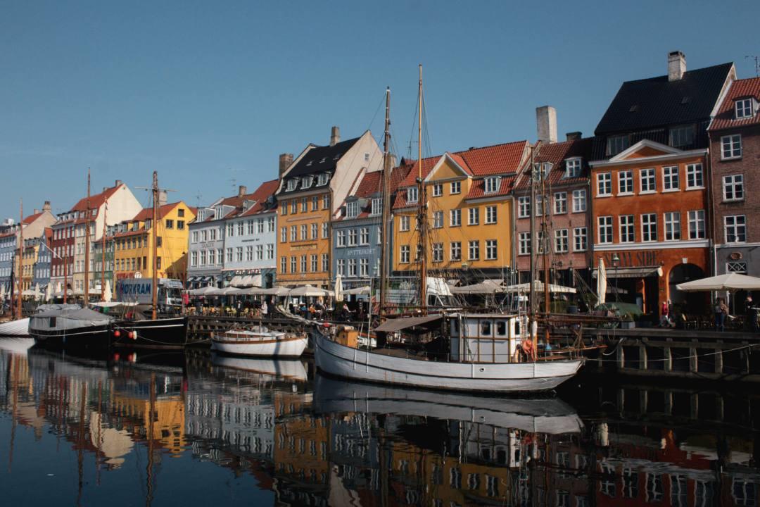 coloured houses in Nyhavn Copenhagen