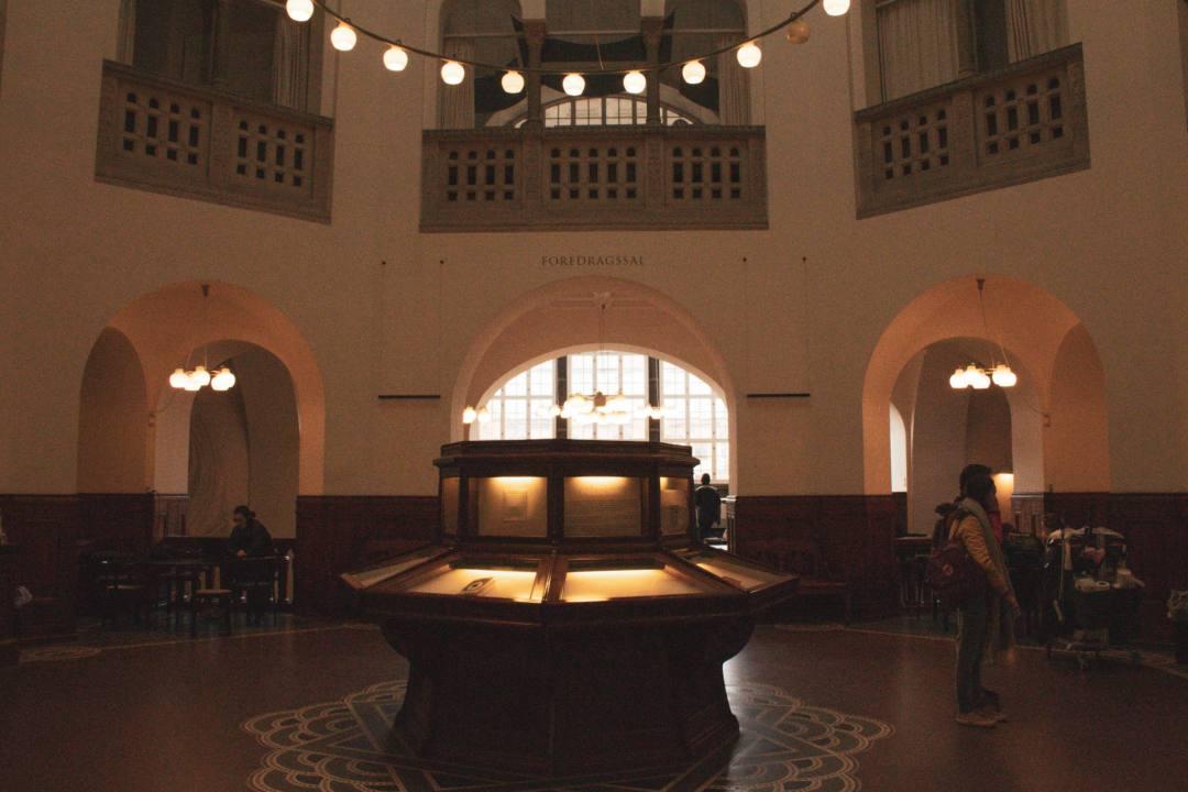 Dark room in Royal Library Copenhagen