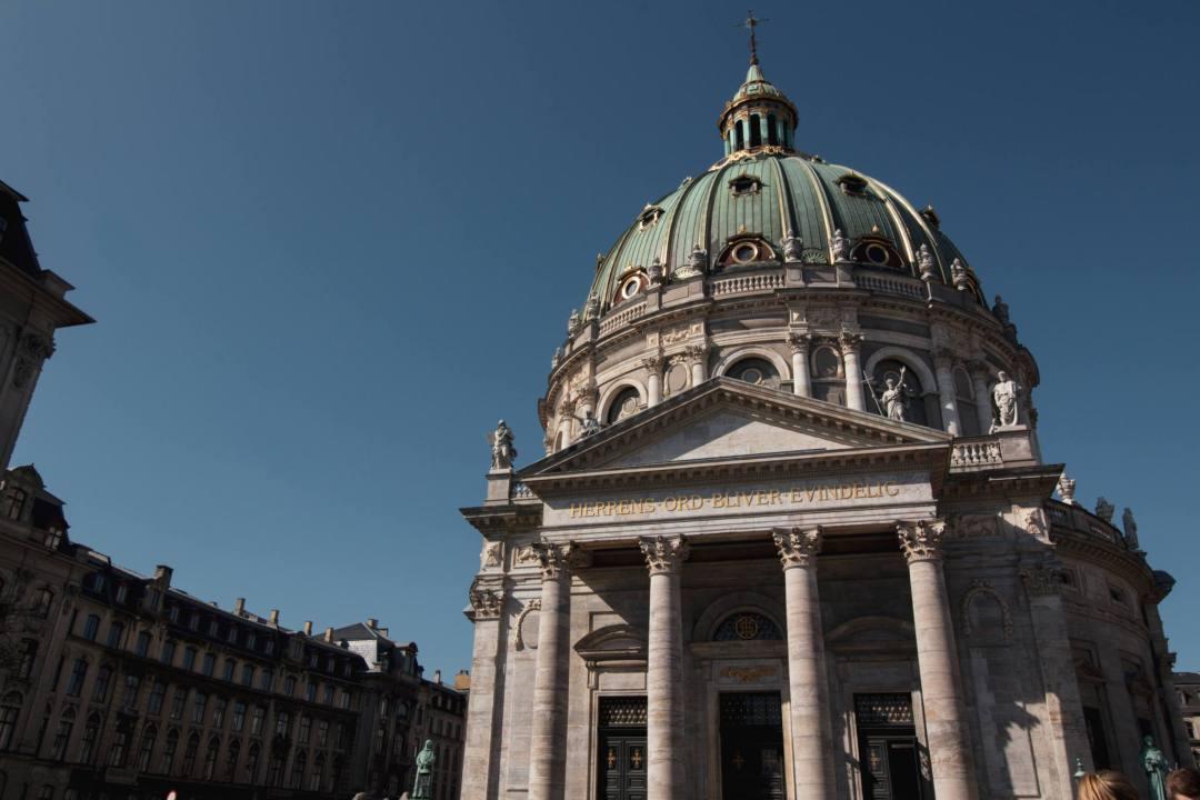 Outside domed church building in Copenhagen
