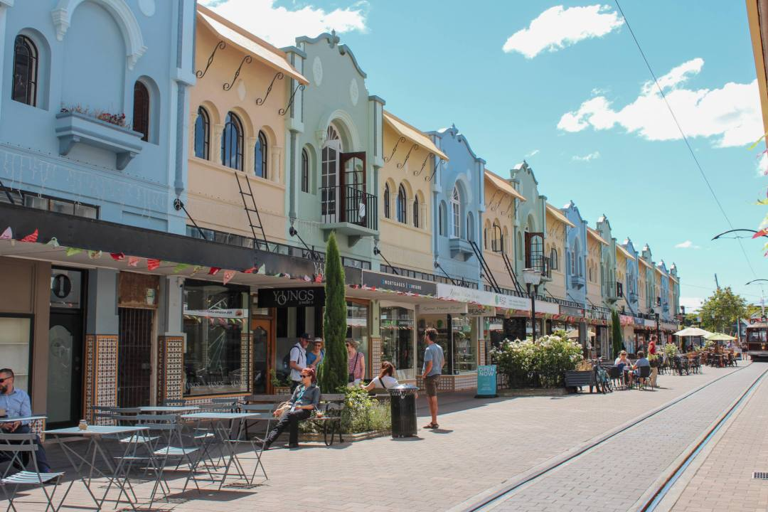 colourful buildings in christchurch