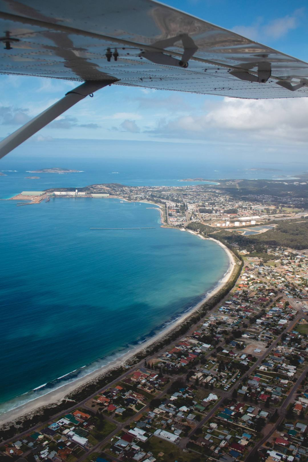 Esperance scenic flight over township and beach