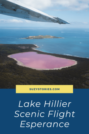 Scenic flight over Lake Hillier